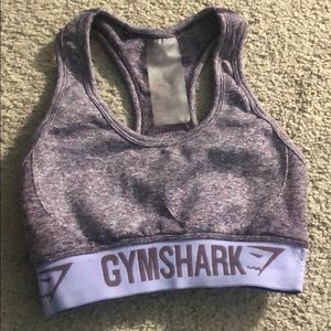 GYMSHARK purple sports bra